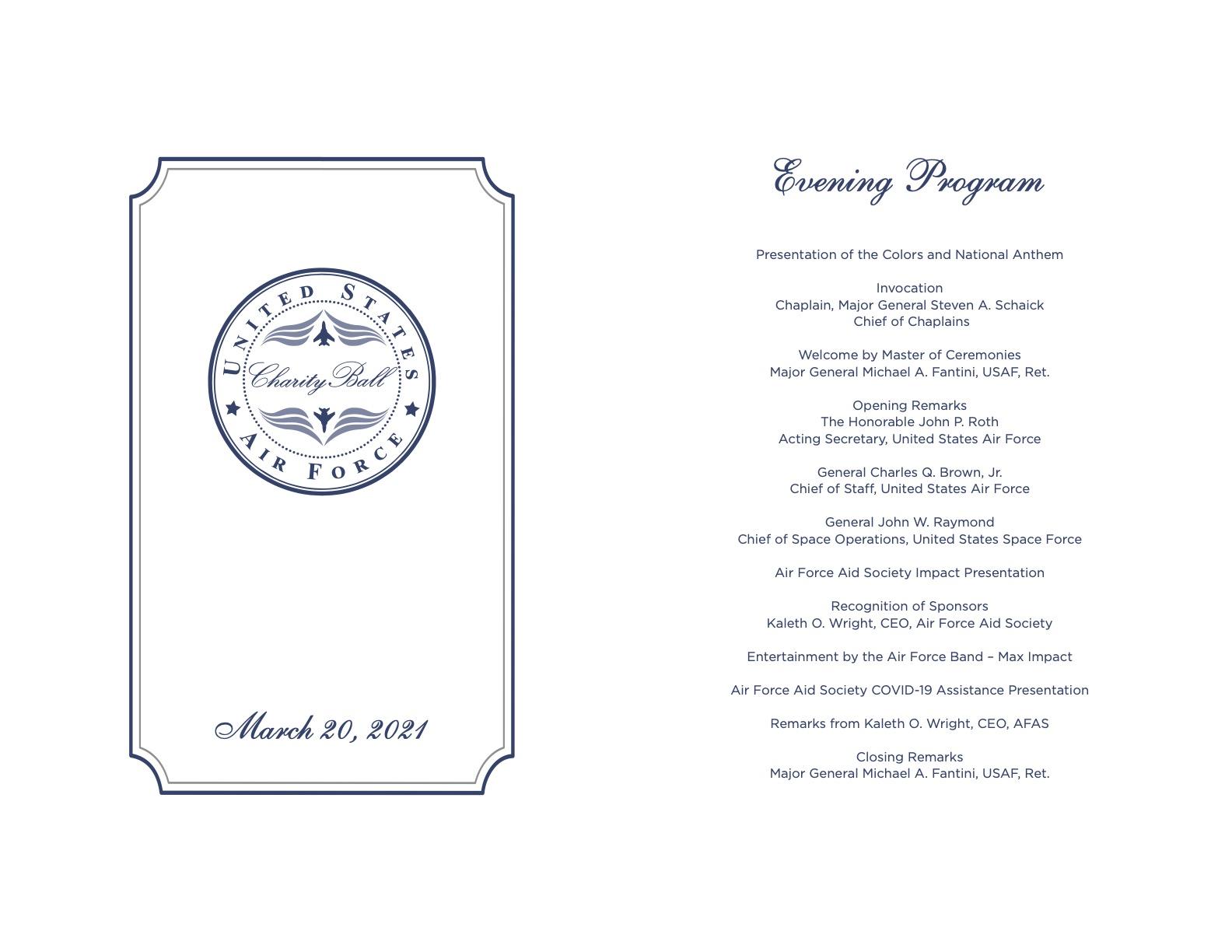 2021 Air Force Charity Program